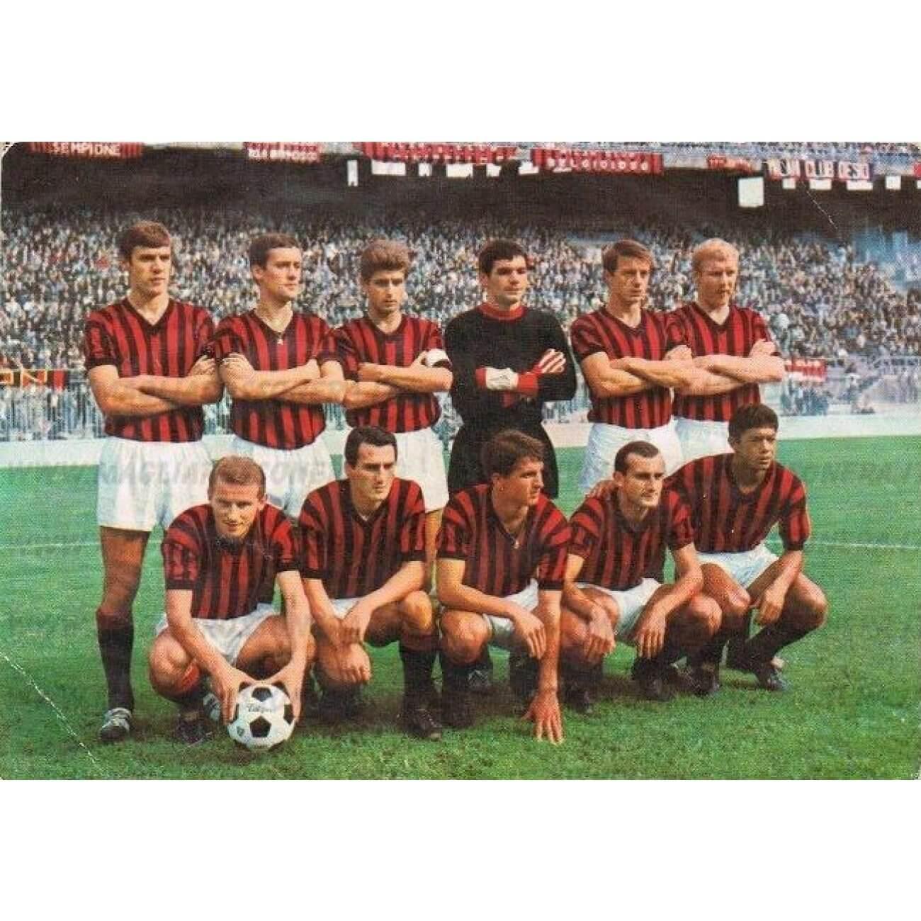 Maillot vintage Milan AC années 60