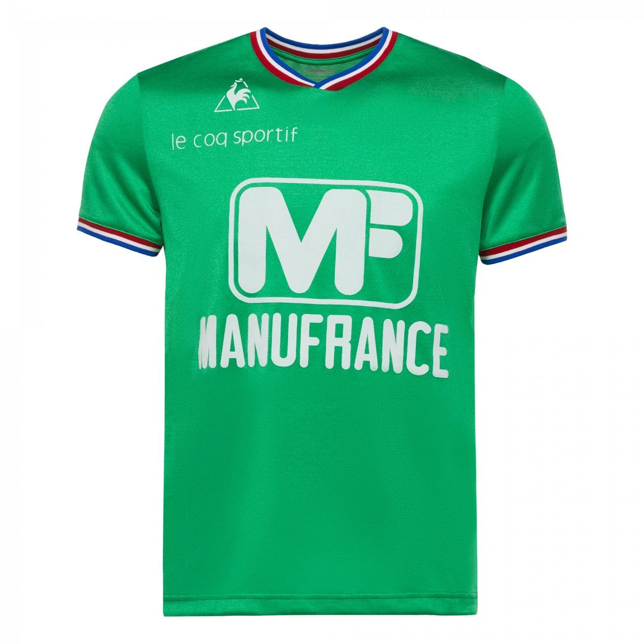 Maillot de foot r tro saint tienne 1975 1976 coupe d 39 europe retrofootball - St etienne coupe d europe ...