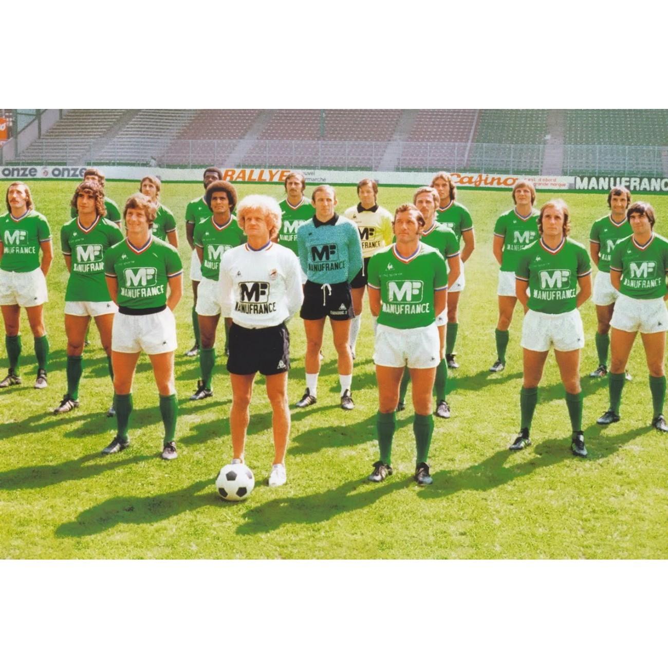 Maillot de foot r tro saint tienne 1975 1976 coupe d 39 europe - St etienne coupe d europe ...