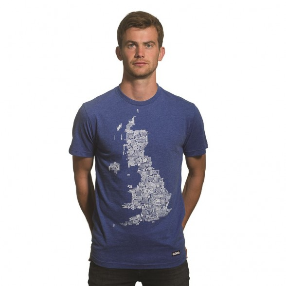 UK Grounds T-Shirt | Blue Mêlée