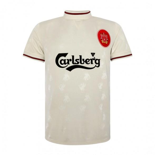 Maillot vintage Liverpool FC 1996-97 Blanc Extérieur