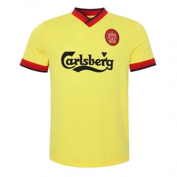 Maillot rétro Liverpool FC 1997-98 Jaune Extérieur