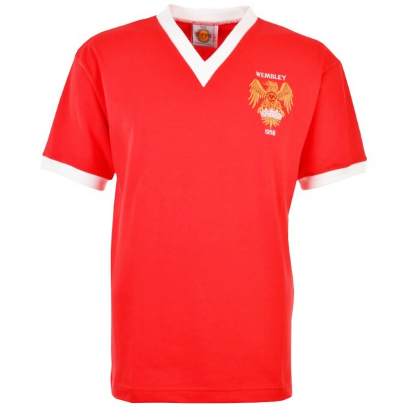 Maillot rétro Manchester United 1958 FA Cup Final