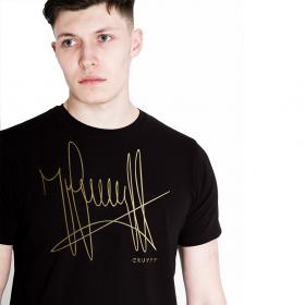 T-shirt Cruyff signature Noir / Or