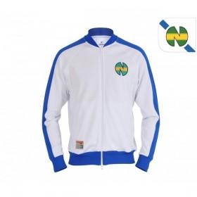 Veste rétro de football de l'équipe de la New Team, issue de la première saison du dessin animé « Olive et Tom », face avant