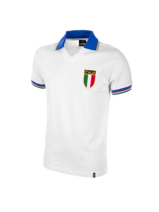 Maillot rétro Italie Coupe du monde 1982 extérieur