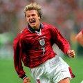 David Beckham Maillot Retro Angleterre 1998 Extérieur