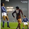 Orlanducci saute avec le fantastique maillot Bastia dans une photo d'époque
