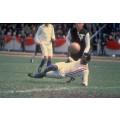 Photo tiré du film « À nous la victoire/Escape to Victory » où l'on peut apercevoir le joueur mythique Pelé.