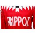 Photo du logo Rippoz du maillot de football rétro Guingamp années 1994/95 - 1995/96.
