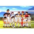 Image tirée du dessin animé Olive et Tom où nous pouvons voir l'équipe de la New Team de la première saison.