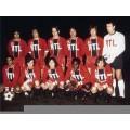 Photo d'époque du du PSG de 1974, avec le maillot Maillot rétro PSG 1974 du club parisien