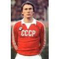 Photo du joueur Oleg Blokhin, un des joueurs les plus connus de l'équipe de l'URSS, avec le Maillot rétro CCCP