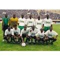 Photo d'époque de l'équipe de foot du Sénégal.