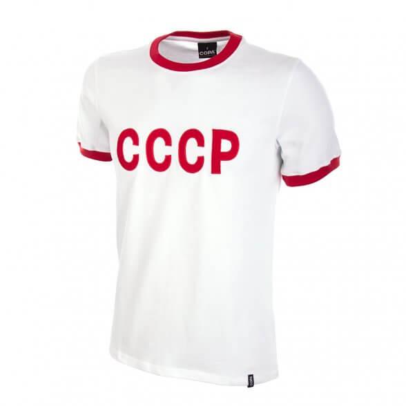Maillot vintage CCCP blanc extérieur