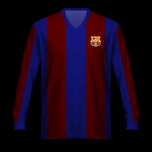 Maillot FC Barcelona 1950/15, la tunique du Barça de Kubala