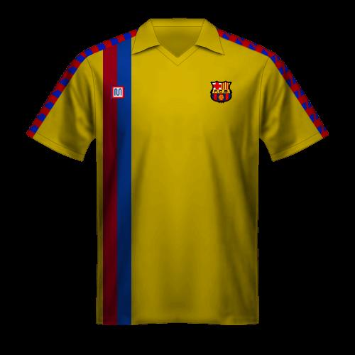 Maillot FC Barcelone 1981/82 extérieur jaune