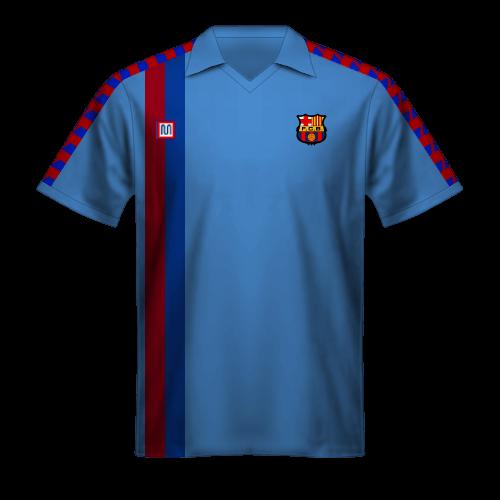 Maillot FC Barcelone 1988/89 extérieur bleu clair