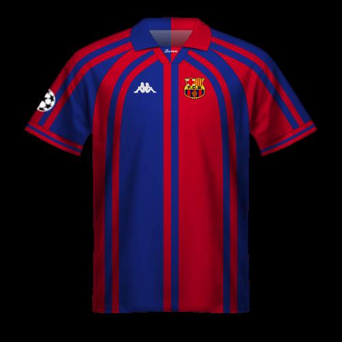 Maillot FC Barcelona 1997/98 en Champions League