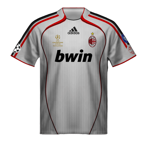 Camiseta Milan 2007 final Champions League