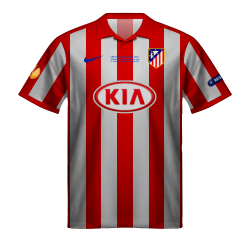 Camiseta Atletico Madrid 2010 Europa League