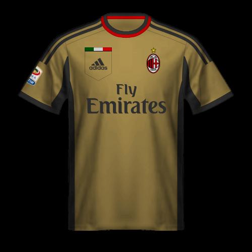 Tercera camiseta Milan 2013/14