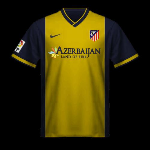 Camiseta Atletico Madrid 2013-14 segunda equipacion Godin