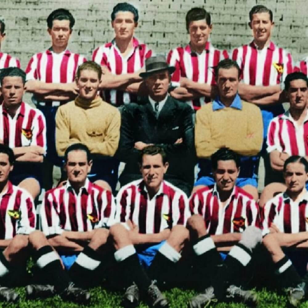 Équipe Atletico de Madrid 1939-40  Atletico-Madrid Maillots Retro Football