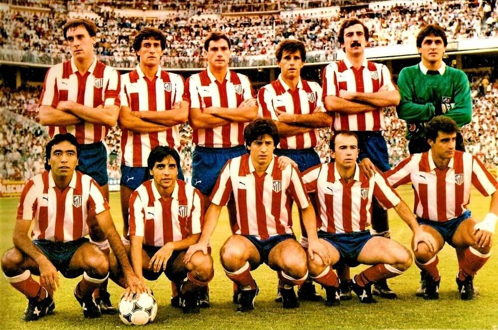 Atletico de Madrid 1985-86 Maillot vintage Atletico Madrid
