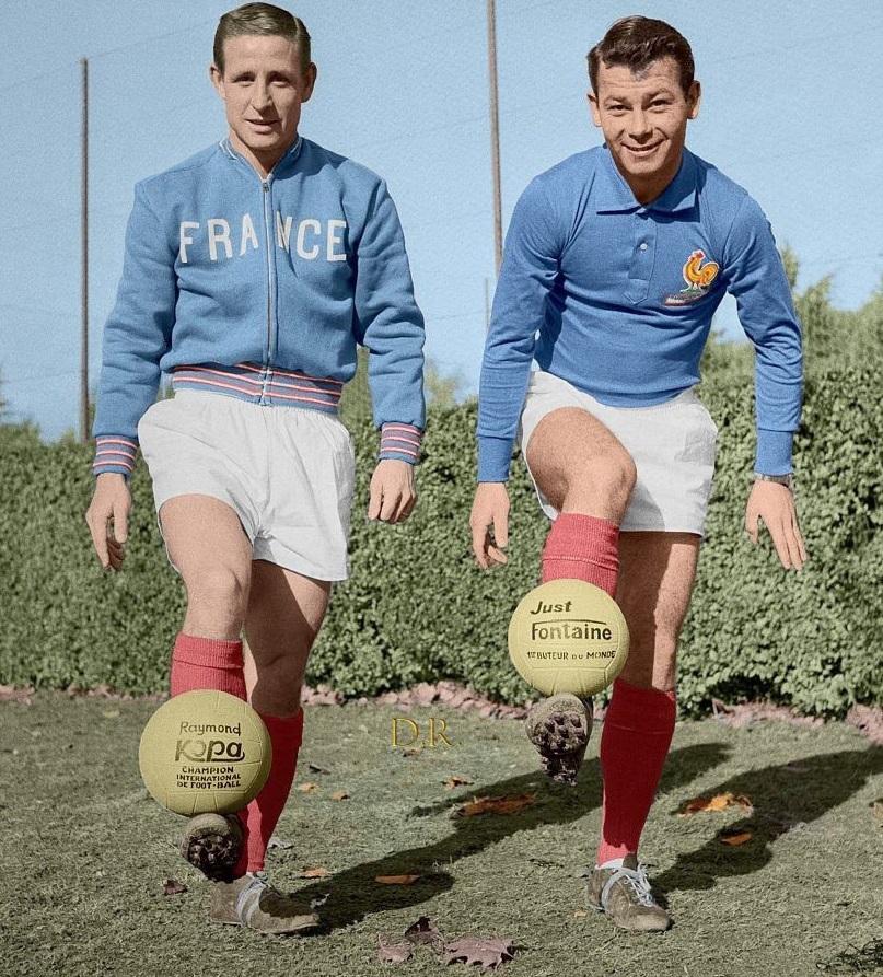 Kopa et Fontaine Coupe du Monde 1958