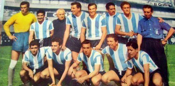 L'équipe de football argentine en 1958