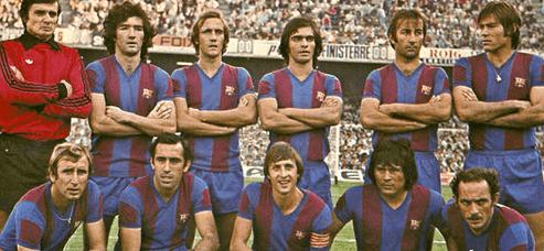 Les années 70 de Cruyff Barcelone FC
