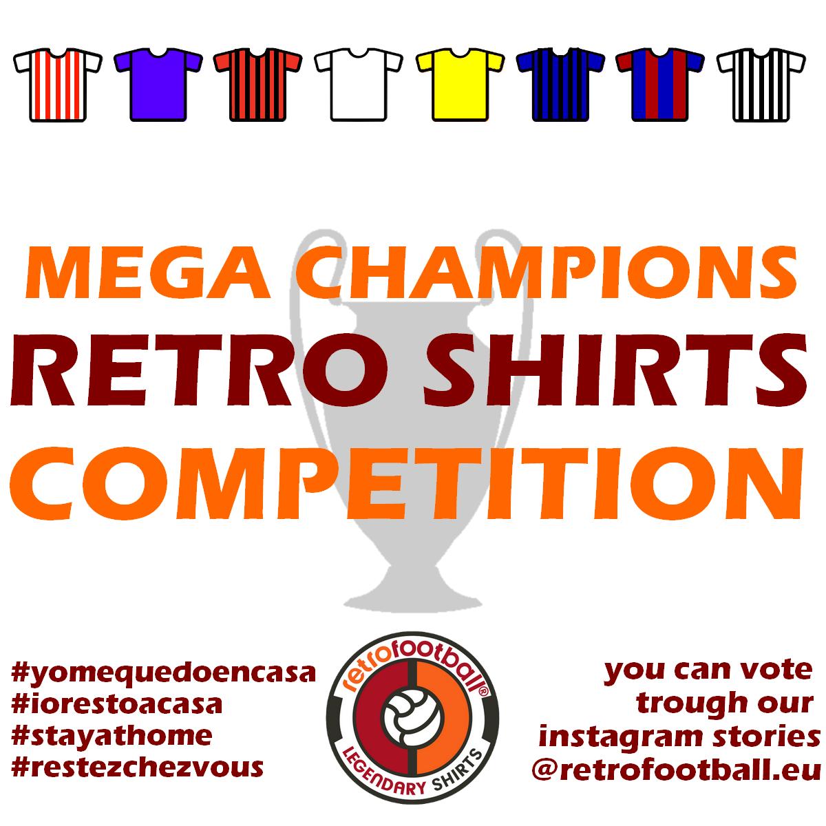 Mega Champions League 2020 des maillots de football vintage