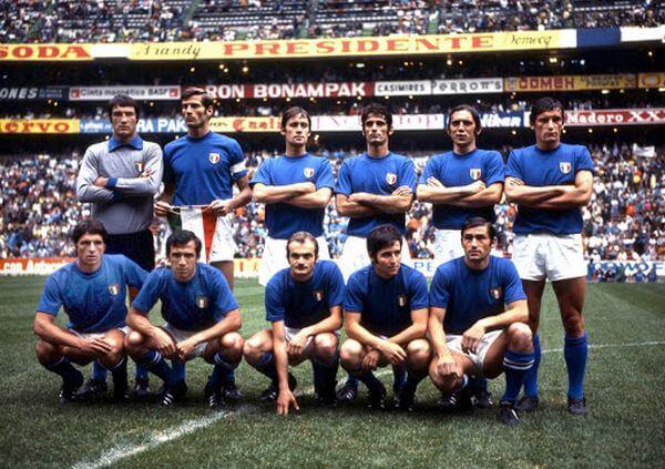 L'équipe italienne de football en 1910