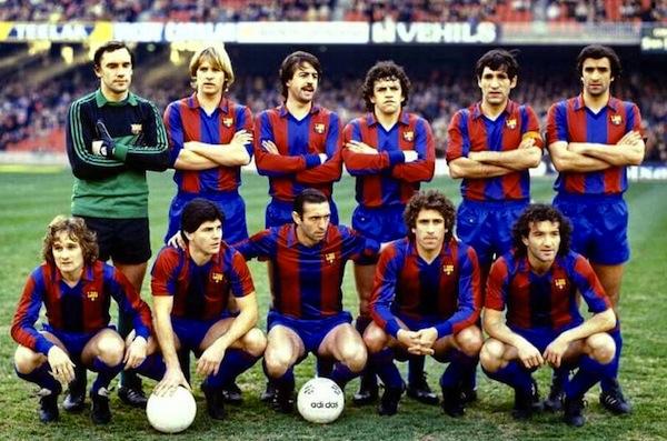 Équipe Barcelona FC années 80