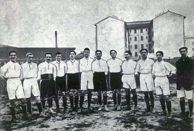 Équipe nationale d'Italie de 1910. Match amicale contre la France