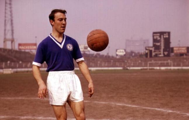 Jimmy Greaves avec le maillot Chelsea de 1960