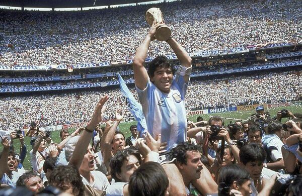 Diego Armando Maradona, la championne du monde en 1986