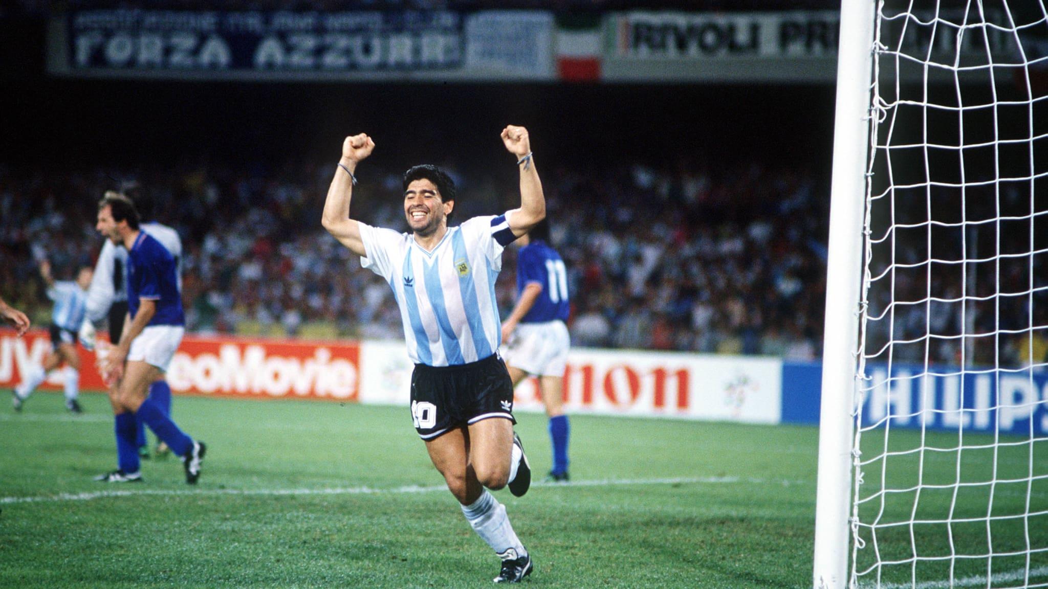 Maillot Maradona Argentina 1990