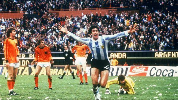 Mario Kempes à la Coupe du monde 1978 en Argentine