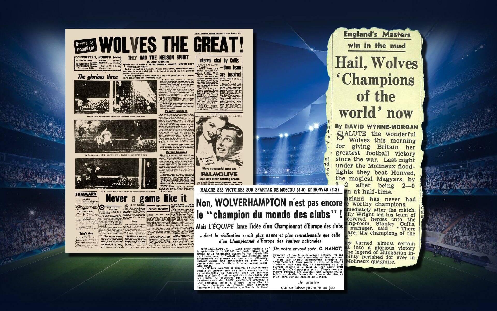 Newspaper Wolverhampton Champions of World Gabriel Hanot